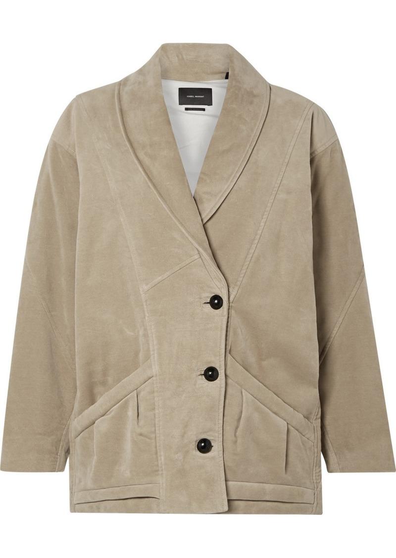 Isabel Marant Doreal Oversized Brushed Cotton-twill Jacket