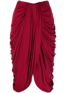 Isabel Marant drape-detail high-waisted skirt