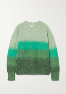 Isabel Marant Drussell Striped Mohair-blend Sweater