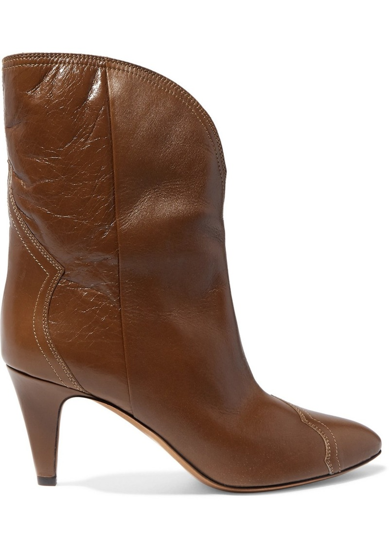 Isabel Marant Dythey Leather Ankle Boots