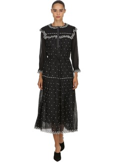 Isabel Marant Eina Embroidered Cotton Voile Dress