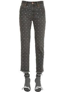 Isabel Marant Embellished Cotton Denim Jeans