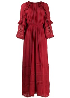 Isabel Marant embroidered flared maxi dress