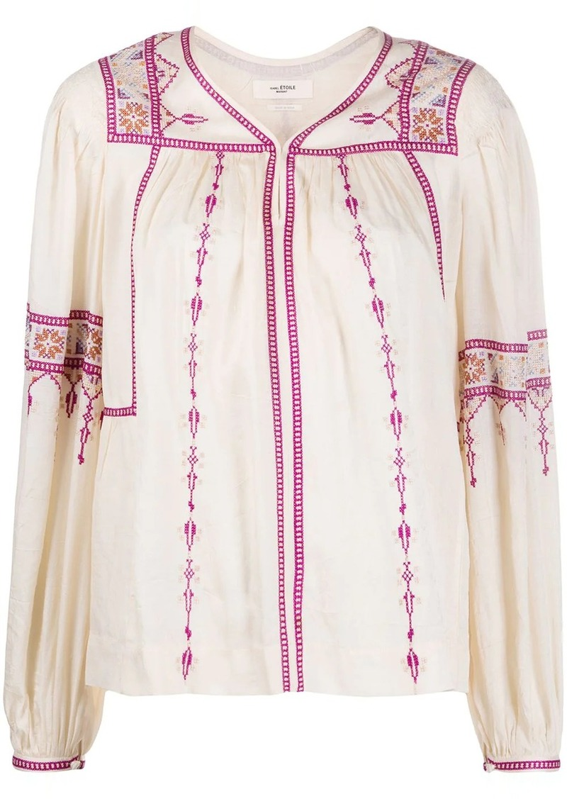 Isabel Marant embroidered peasant blouse