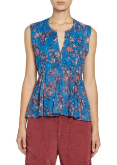 Isabel Marant Erney Sleeveless Floral Blouse