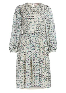 Isabel Marant Eulie Print Smocked Dress