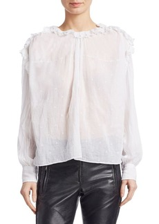 Isabel Marant Eva Embroidered Cotton Blouse