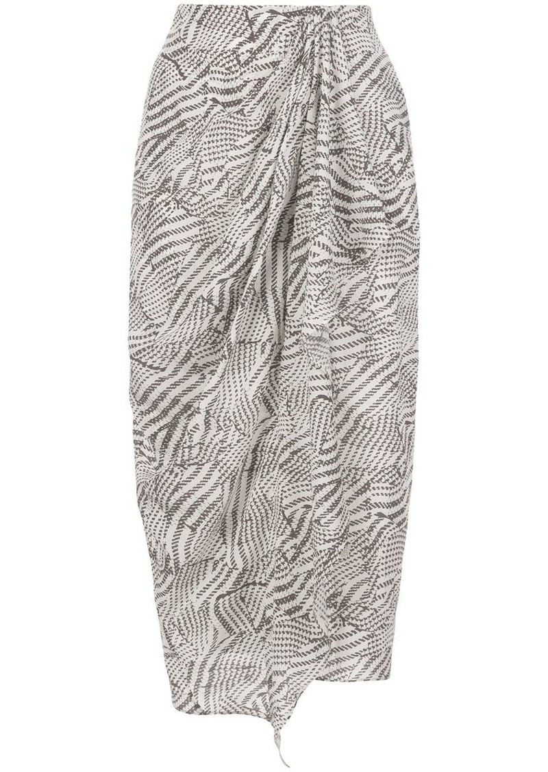 Isabel Marant Fabiana gathered skirt