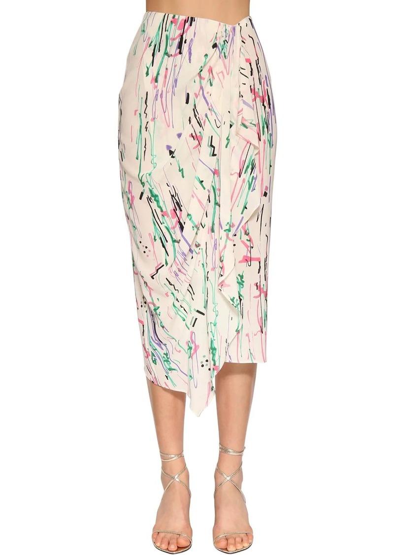 Isabel Marant Fabiana Printed Crepe De Chine Skirt