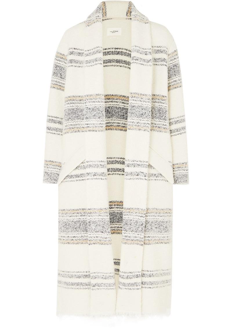 Isabel Marant Faby Oversized Striped Felt Coat