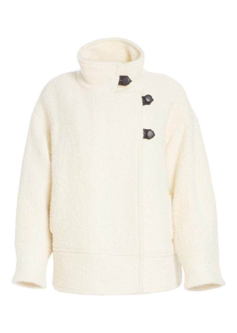 Isabel Marant Fagan Wool Blend Coat