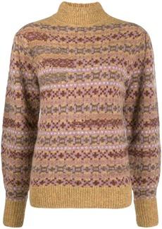 Isabel Marant fair isle roll neck jumper