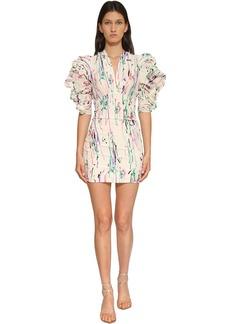 Isabel Marant Farah Printed Crepe De Chine Mini Dress