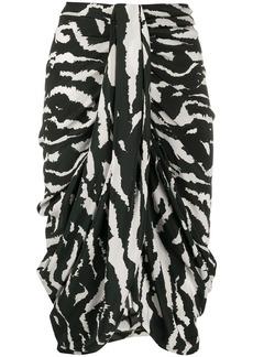 Isabel Marant Fetina zebra-print draped skirt