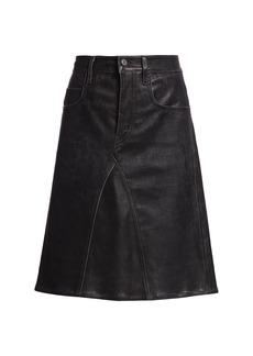 Isabel Marant Fiali Leather Crossover Skirt