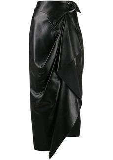 Isabel Marant Fiova asymmetric wrap skirt