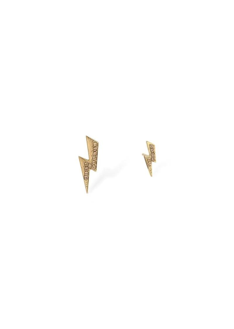 Isabel Marant Flash Asymmetrical Stud Crystal Earrings