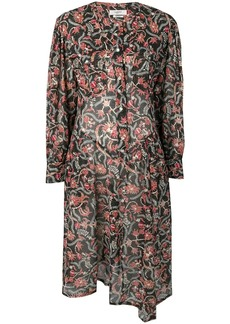 Isabel Marant floral long-sleeve flared dress