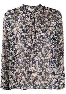 Isabel Marant floral-print band collar shirt