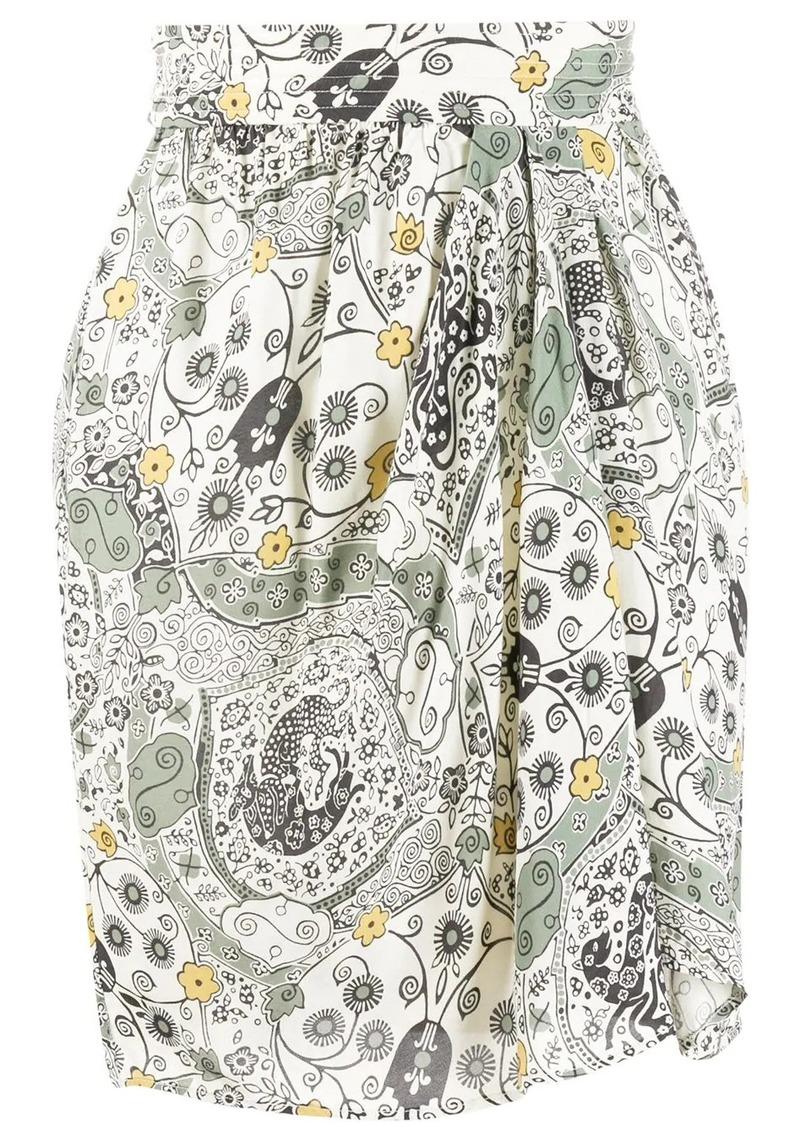 Isabel Marant floral-print draped shirt