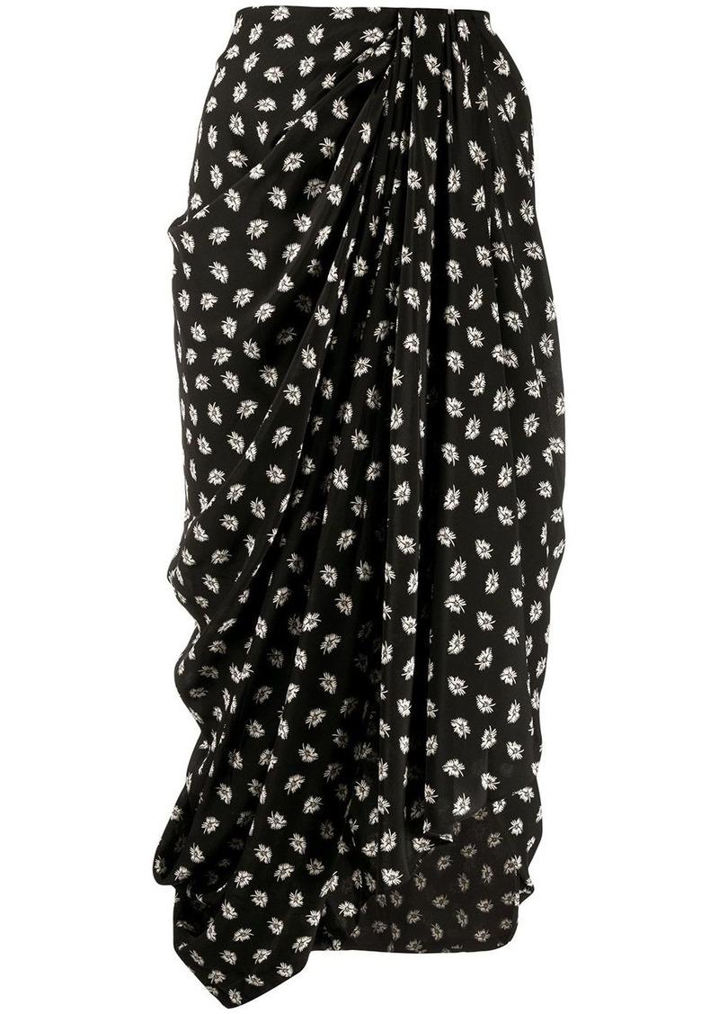 Isabel Marant floral print midi skirt