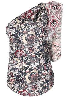 Isabel Marant floral print one shoulder top
