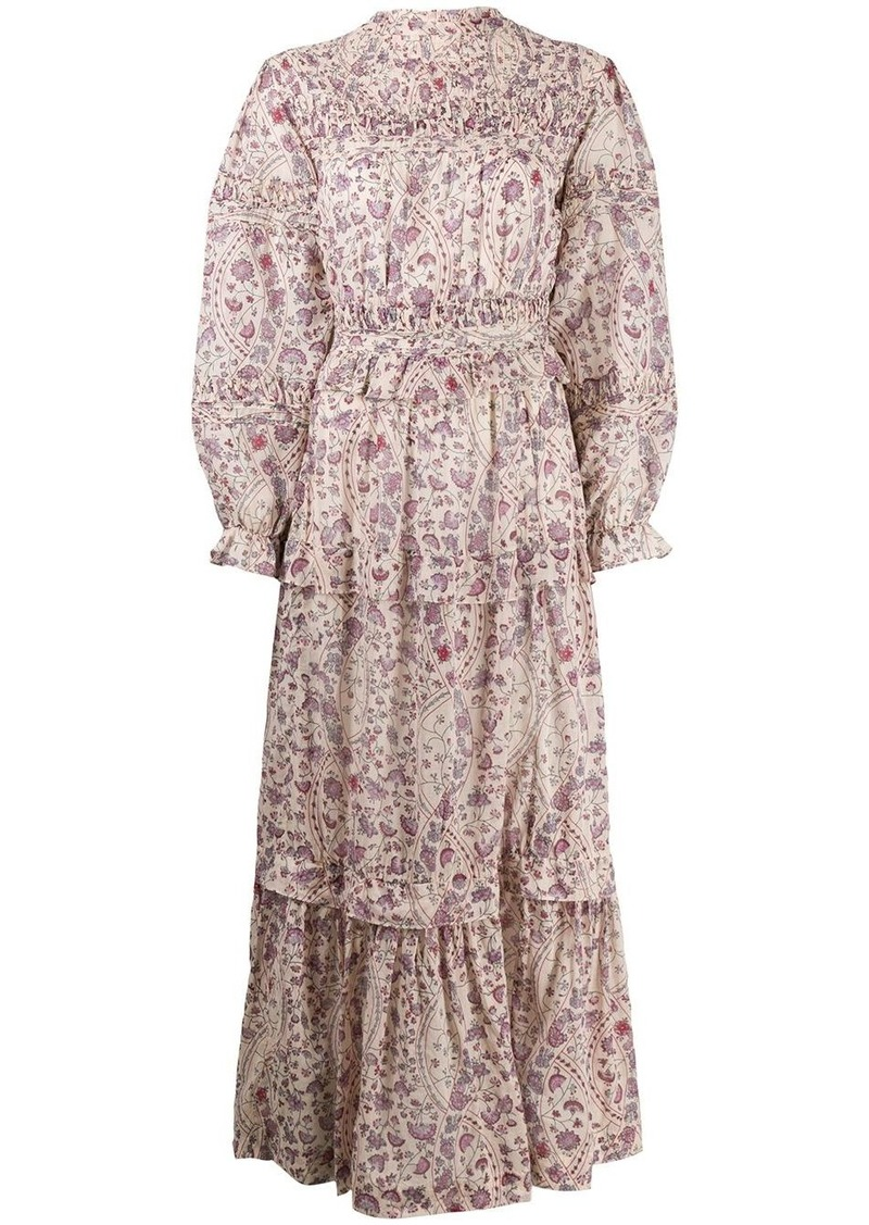 Isabel Marant floral print smock dress