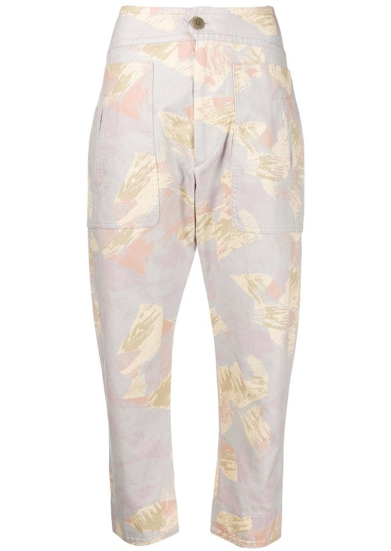 Isabel Marant floral tapered trousers