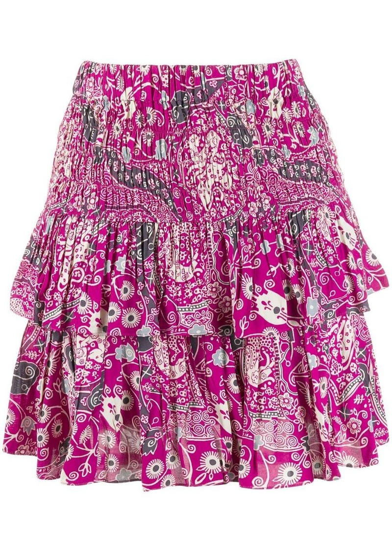 Isabel Marant floral-print tiered skirt
