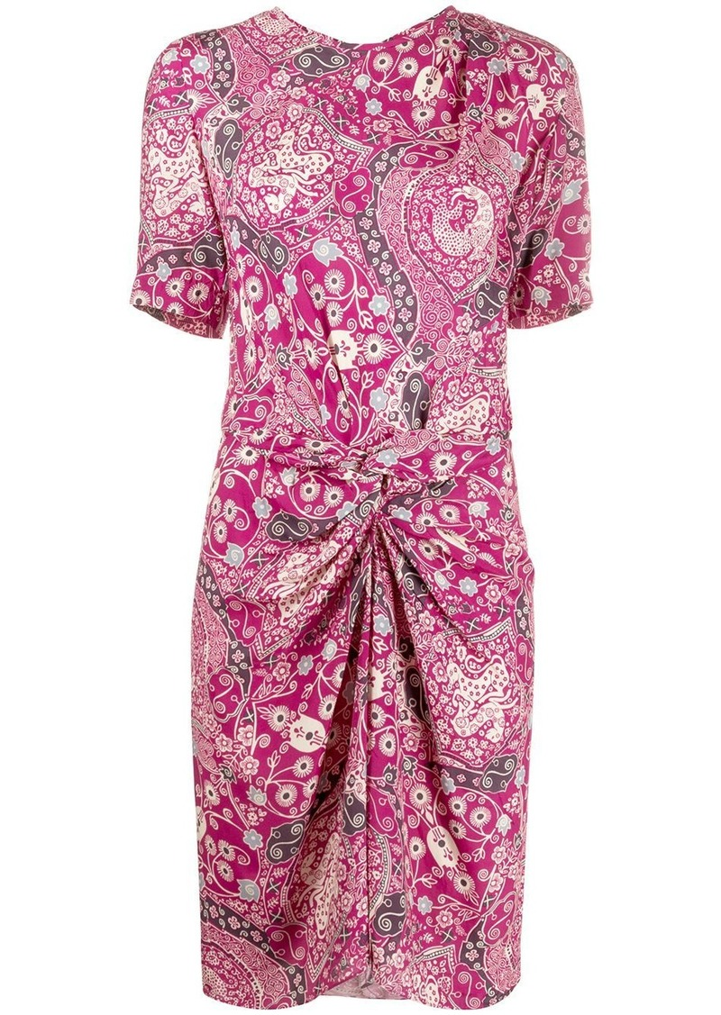 Isabel Marant floral print twist midi dress