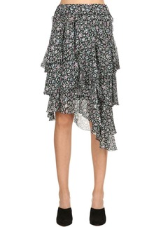 Isabel Marant Jeezon Printed Viscose Ruffle Mini Skirt