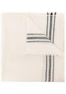 Isabel Marant frayed striped scarf