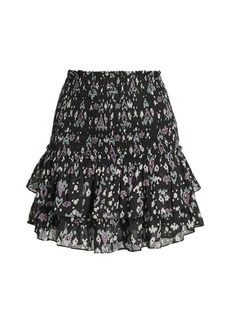 Isabel Marant Frinley Printed Smocked Skirt