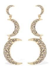 Isabel Marant Full Moon Pendant Crystal Earrings