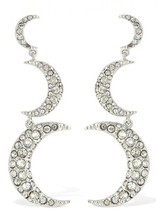Isabel Marant Full Moon Pendant Crystal Earrings