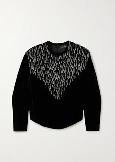 Isabel Marant Gabanoe Bead-embellished Velvet Top