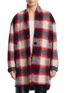 Isabel Marant Gabrie Wool Flannel Blanket Coat