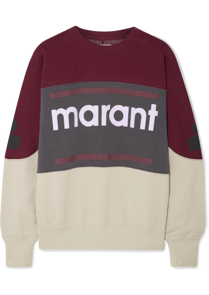 Isabel Marant Gallian Flocked Cotton-blend Fleece Sweatshirt