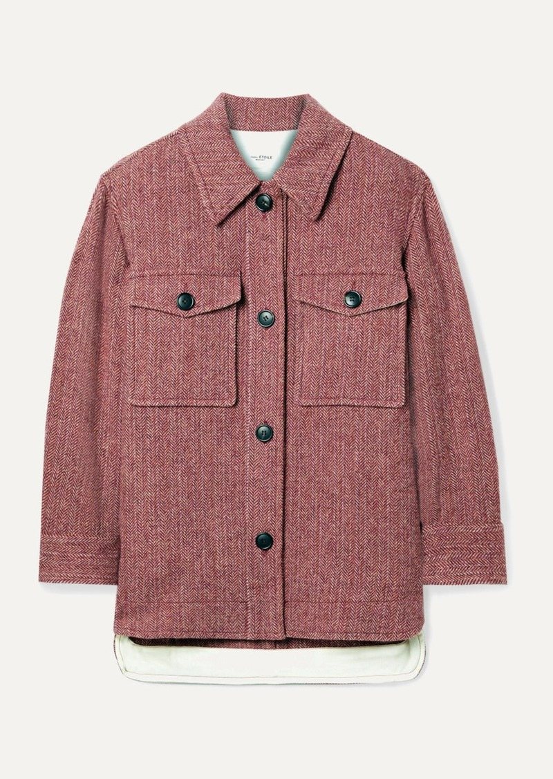 Isabel Marant Garvey Herringbone Wool-tweed Jacket