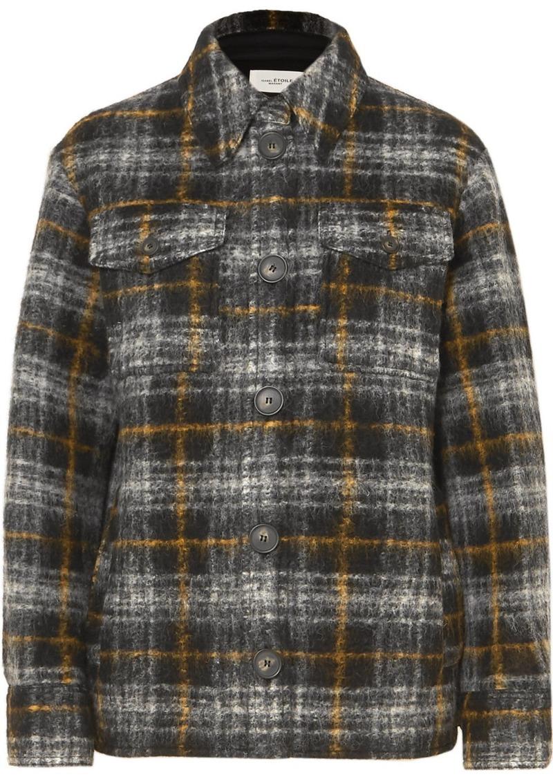 Isabel Marant Gaston Checked Wool-blend Jacket