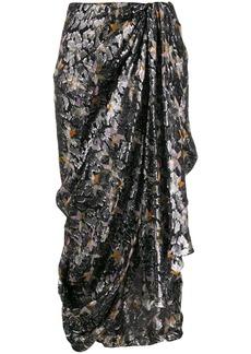 Isabel Marant geometric print asymmetric skirt