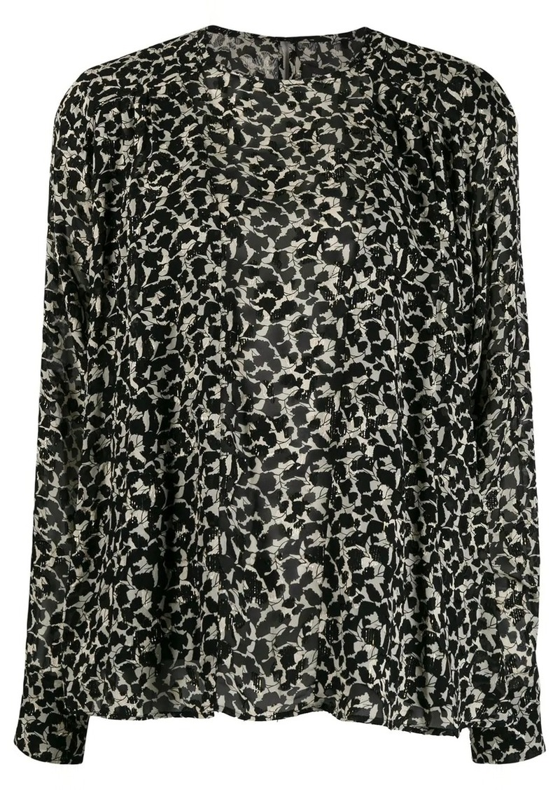 Isabel Marant geometric print blouse
