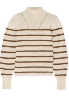 Isabel Marant Georgia Striped High-neck Alpaca-blend Sweater