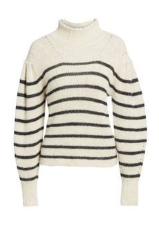 Isabel Marant Georgia Striped Wool-Blend Sweater