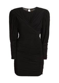 Isabel Marant Ghita Draped Jersey Mini Dress