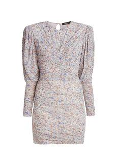 Isabel Marant Ghita</span> Draped Jersey Mini Dress