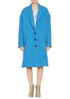 Isabel Marant Gimi Long Boxy Wool-Blend Coat