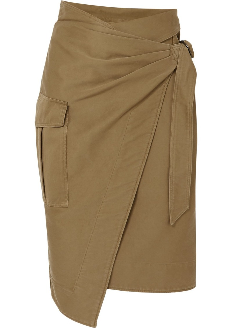 Isabel Marant Giulia Cotton-twill Wrap Skirt