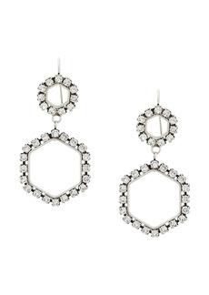 Isabel Marant glass crystal embellished hexagonal earrings