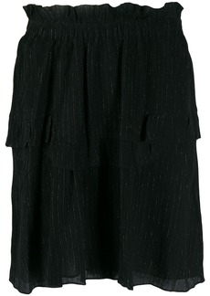 Isabel Marant glittery striped layered skirt